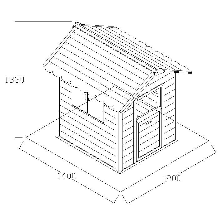 cabane de jardin en bois lola x x m 60007. Black Bedroom Furniture Sets. Home Design Ideas
