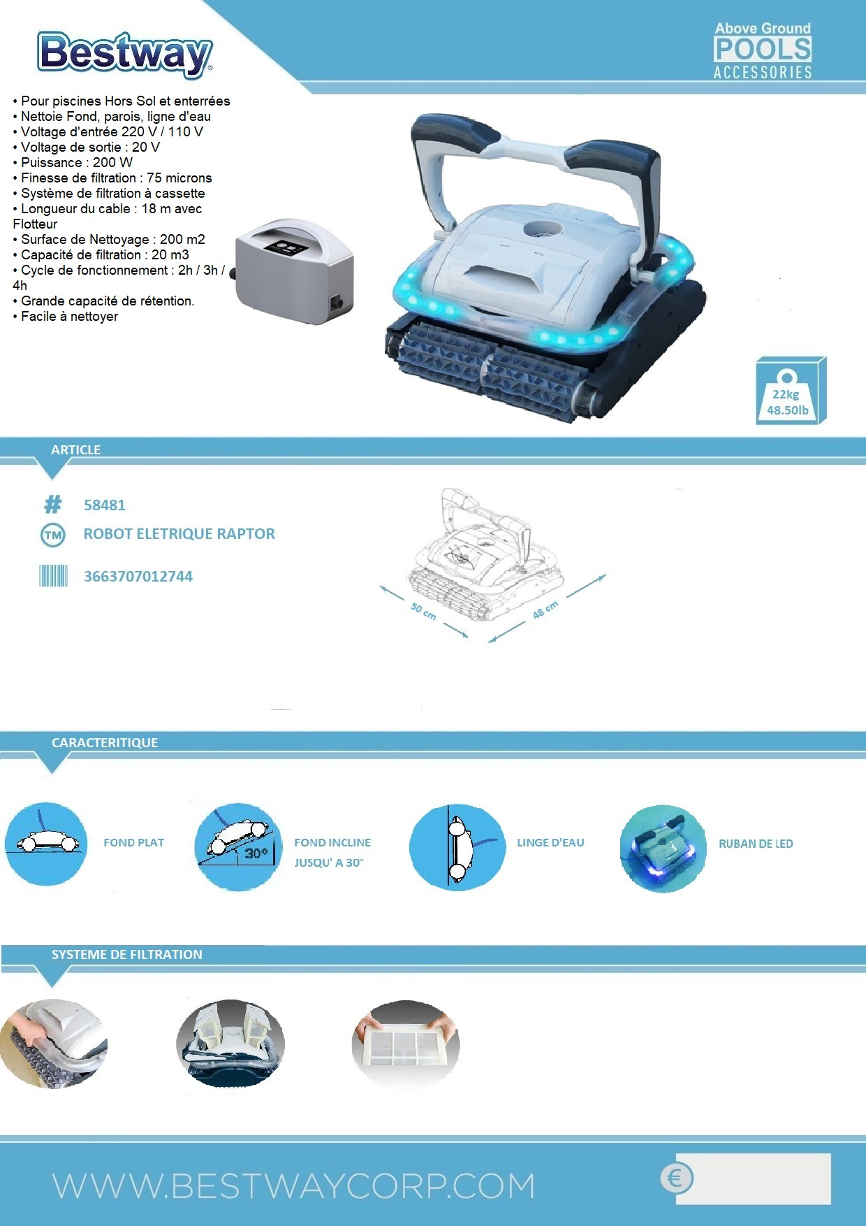 Interesting avis technique liner piscine images best for Robot piscine ronde
