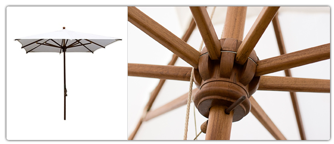 parasol jardi en teck de birmanie m 24746. Black Bedroom Furniture Sets. Home Design Ideas