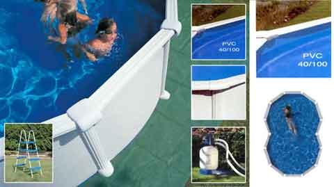 Kit piscine acier en huit varadero blanche x for Piscine sevylor en huit