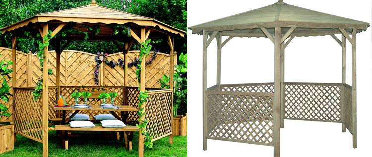 tonnelle bois lora 10 m x h m 27363. Black Bedroom Furniture Sets. Home Design Ideas