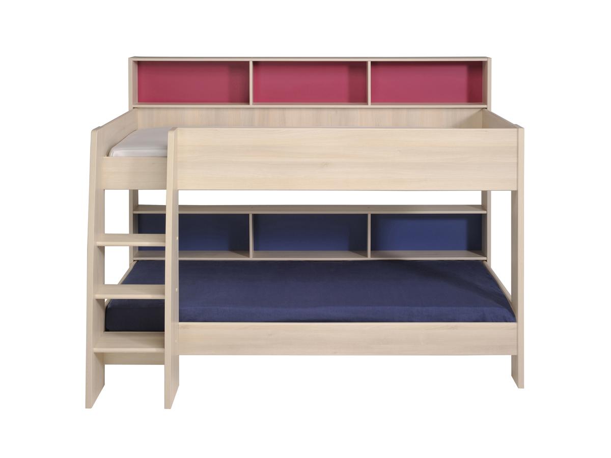 lit superpos matmat accacia clair l 209 x l 134 x h 165 cm 78348. Black Bedroom Furniture Sets. Home Design Ideas