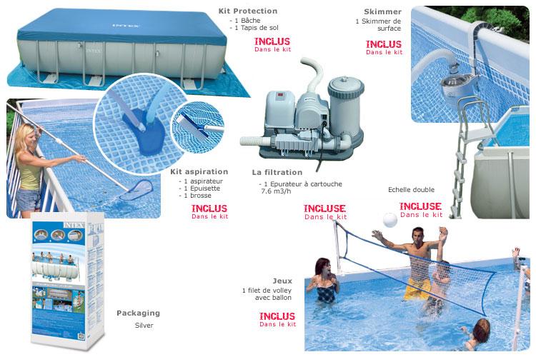 Piscine tubulaire allong e ultra sylver x x 1 for Vanne d arret piscine hors sol 32 38mm
